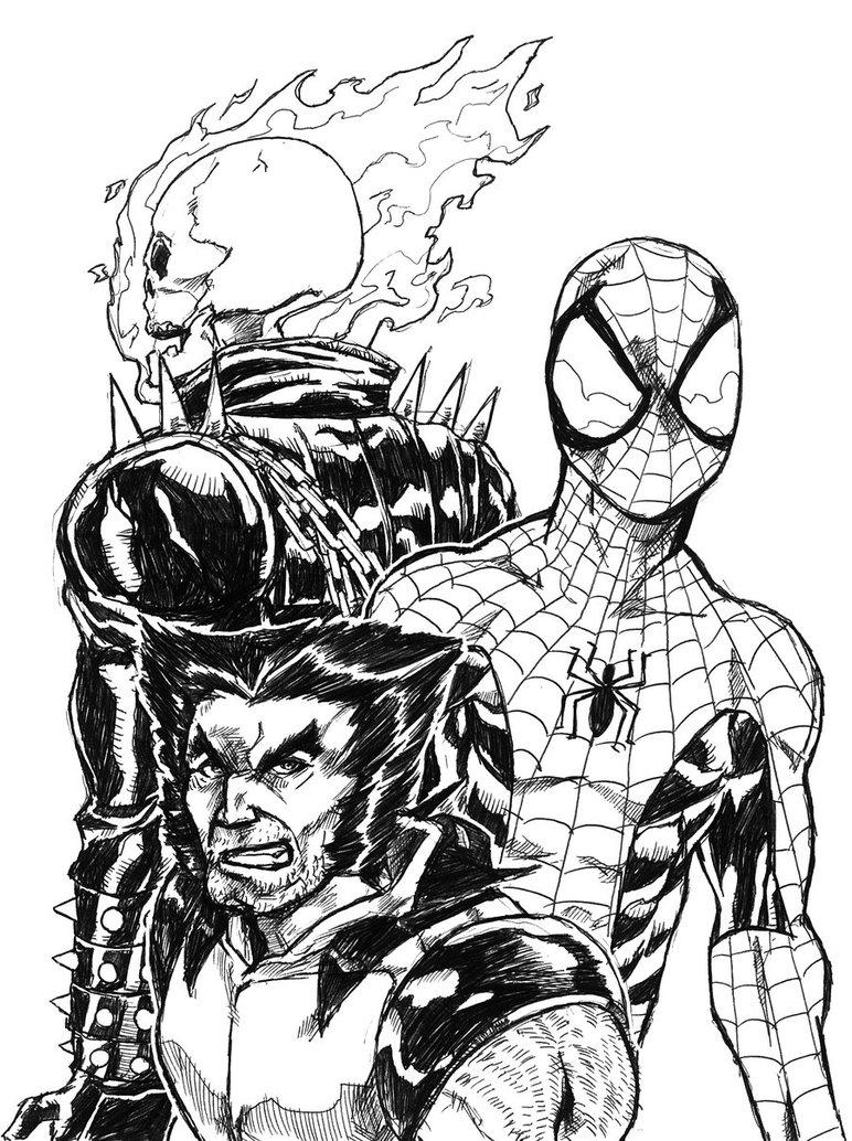 Ghostrider coloring #3, Download drawings