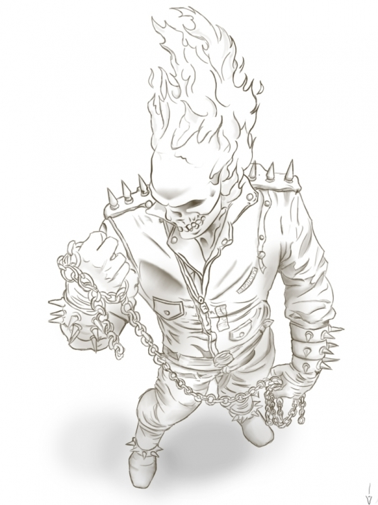 Ghostrider coloring #7, Download drawings
