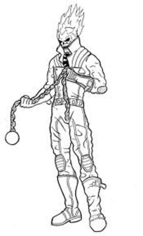 Ghostrider coloring #4, Download drawings