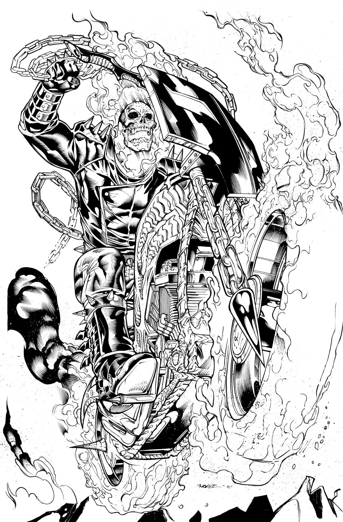 Ghostrider coloring #11, Download drawings