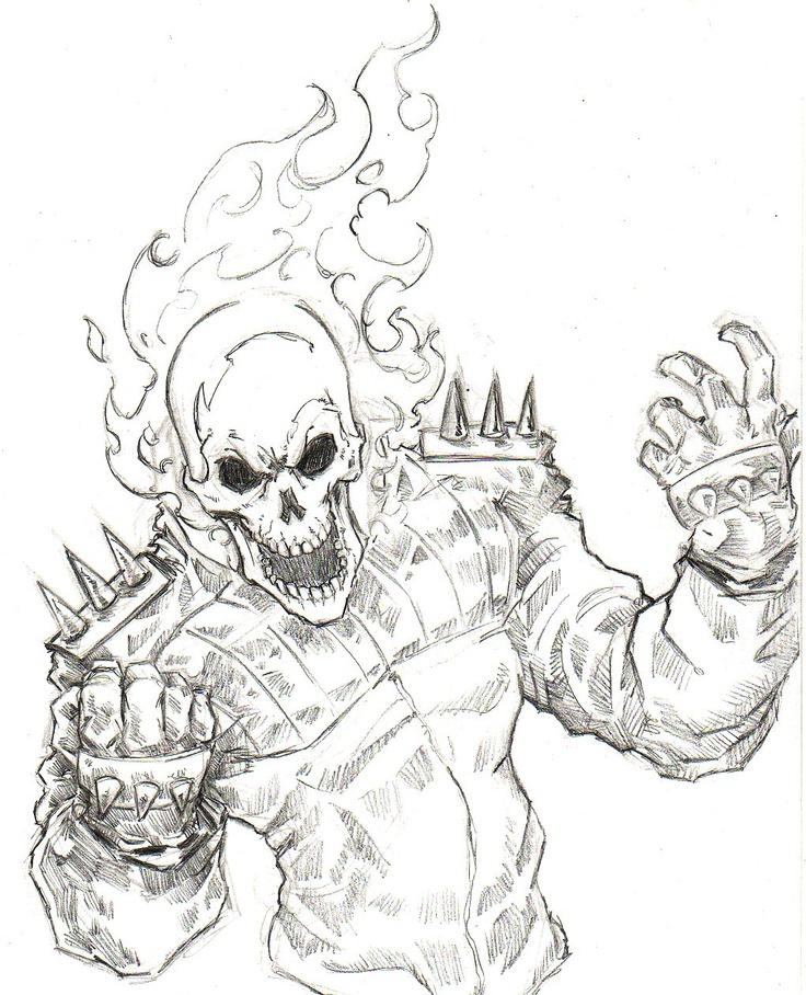 Ghostrider coloring #8, Download drawings