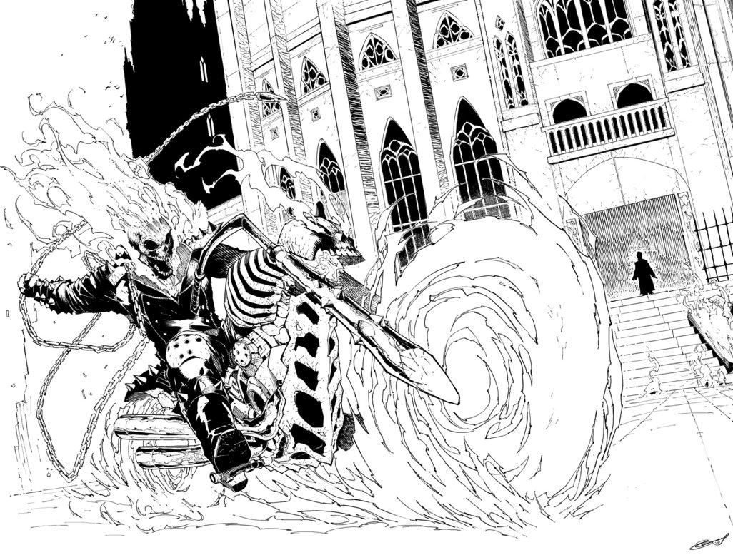 Ghostrider coloring #13, Download drawings