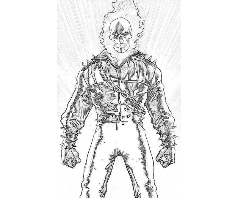 Ghostrider coloring #16, Download drawings
