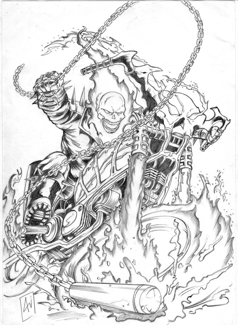 Ghostrider coloring #20, Download drawings