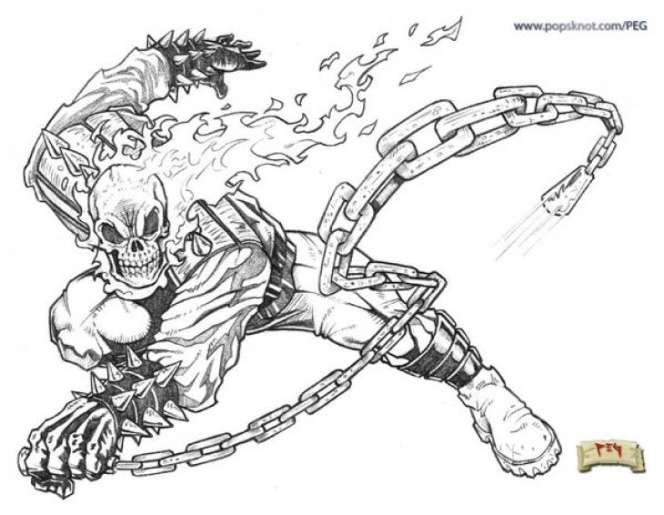 Ghostrider coloring #19, Download drawings