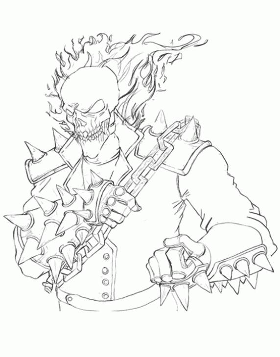 Ghostrider coloring #10, Download drawings
