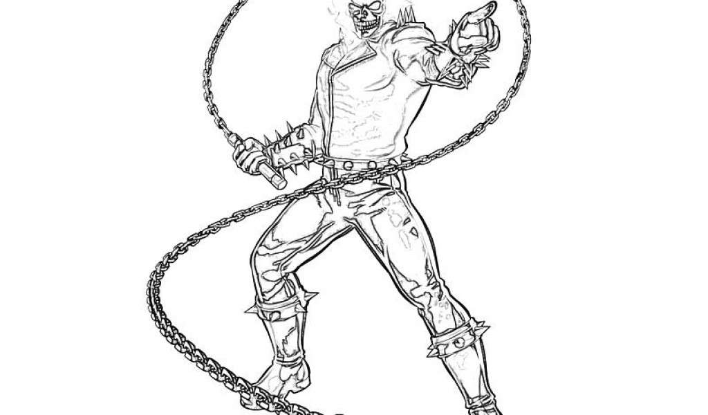 Ghostrider coloring #12, Download drawings