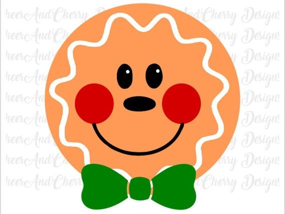 gingerbread face svg #807, Download drawings