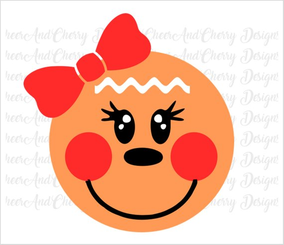 gingerbread face svg #809, Download drawings