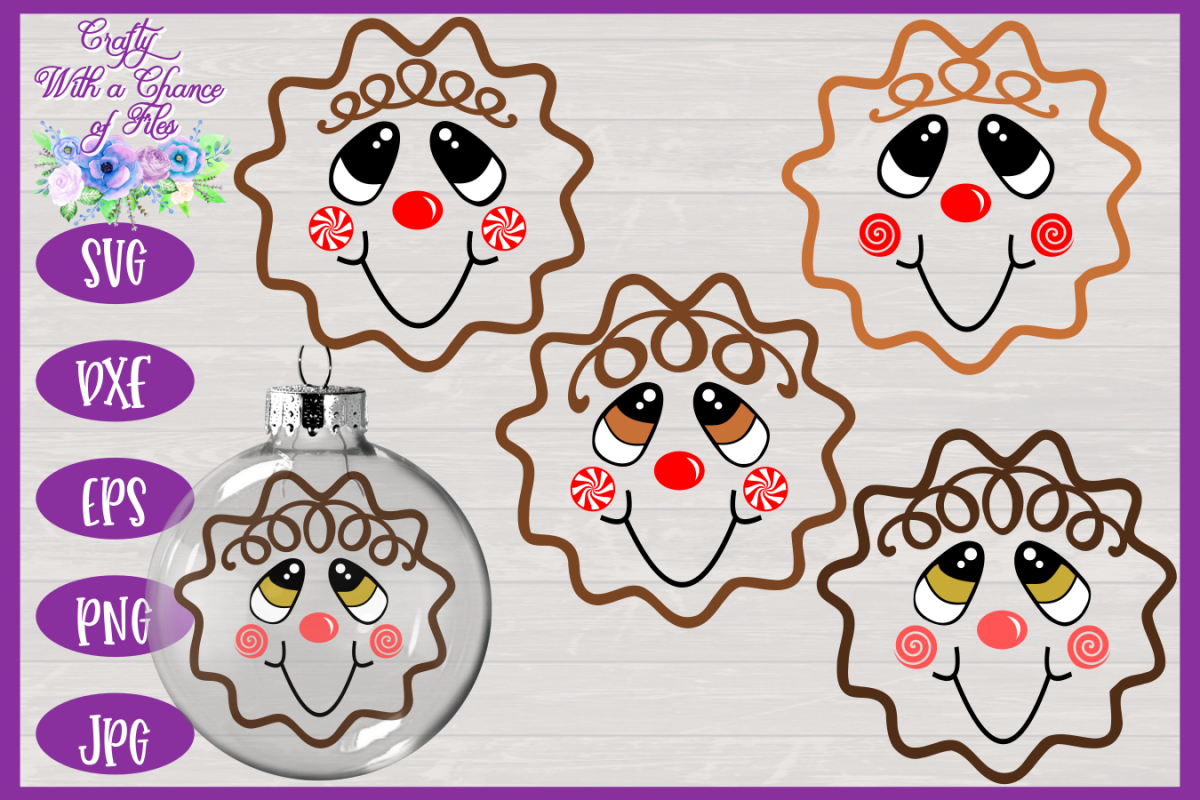 gingerbread face svg #815, Download drawings