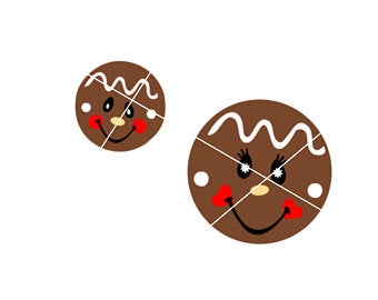gingerbread face svg #811, Download drawings