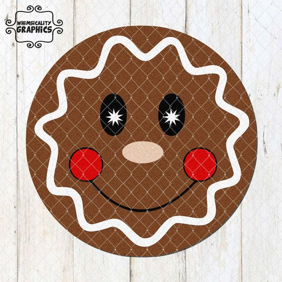 gingerbread face svg #814, Download drawings