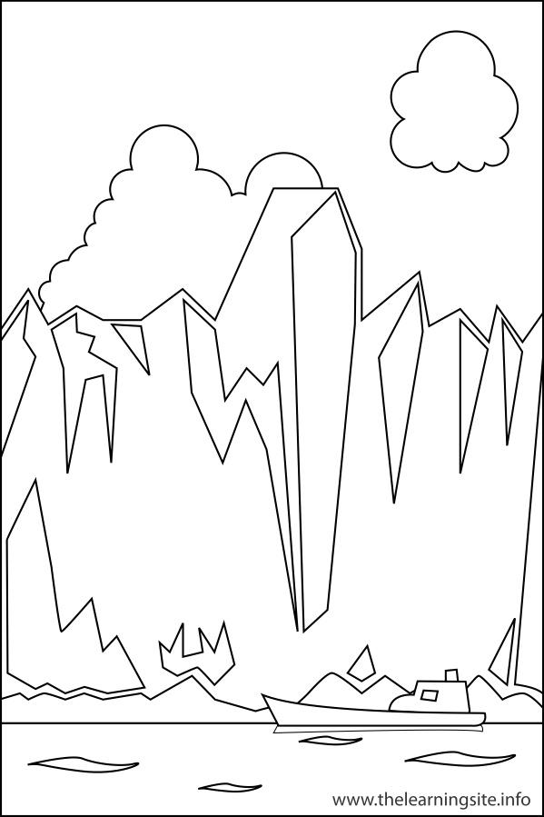 Glacier coloring #4, Download drawings