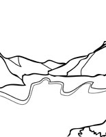 Glacier coloring #9, Download drawings