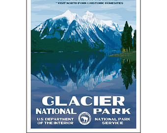 Glacier National Park clipart #6, Download drawings