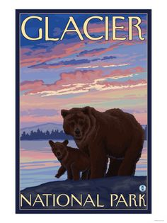 Glacier National Park clipart #1, Download drawings