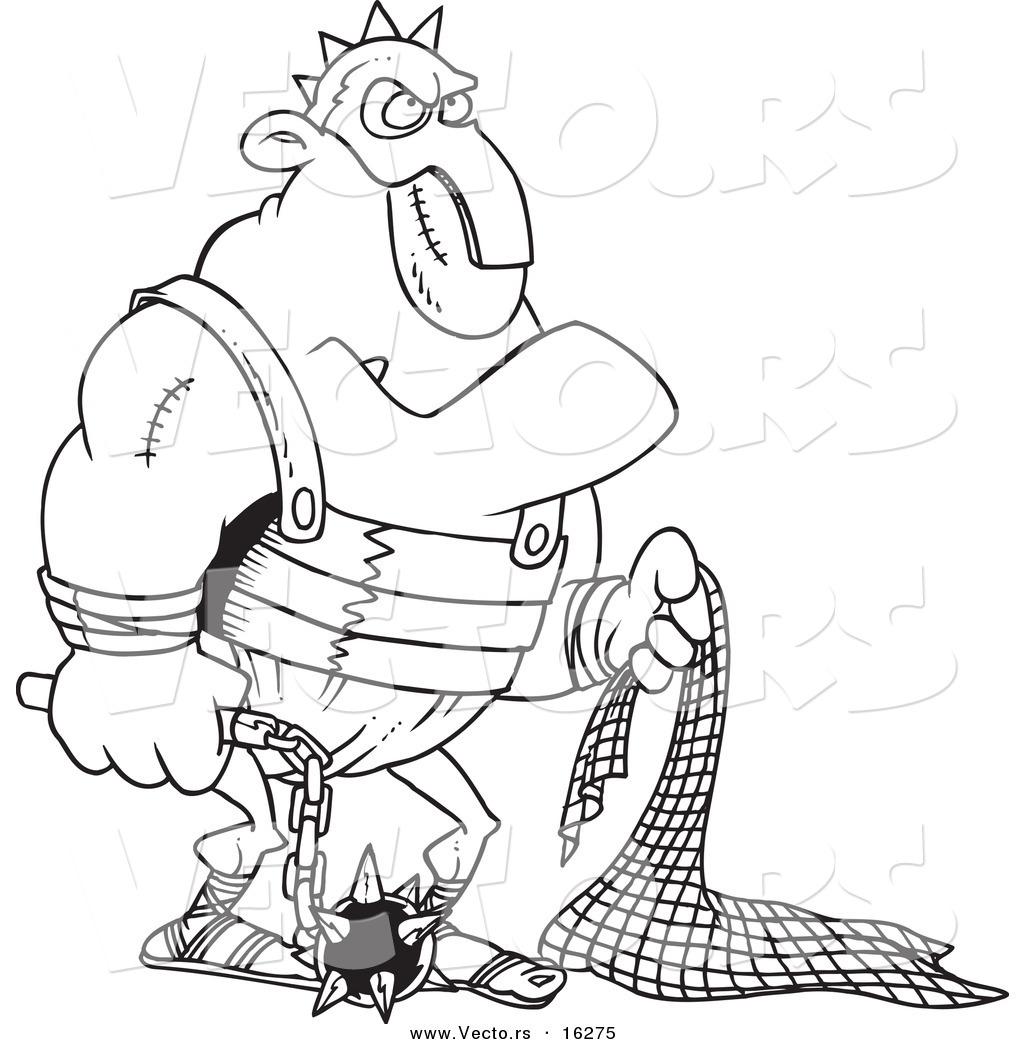 Gladiator coloring #9, Download drawings