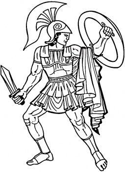 Gladiator coloring #7, Download drawings