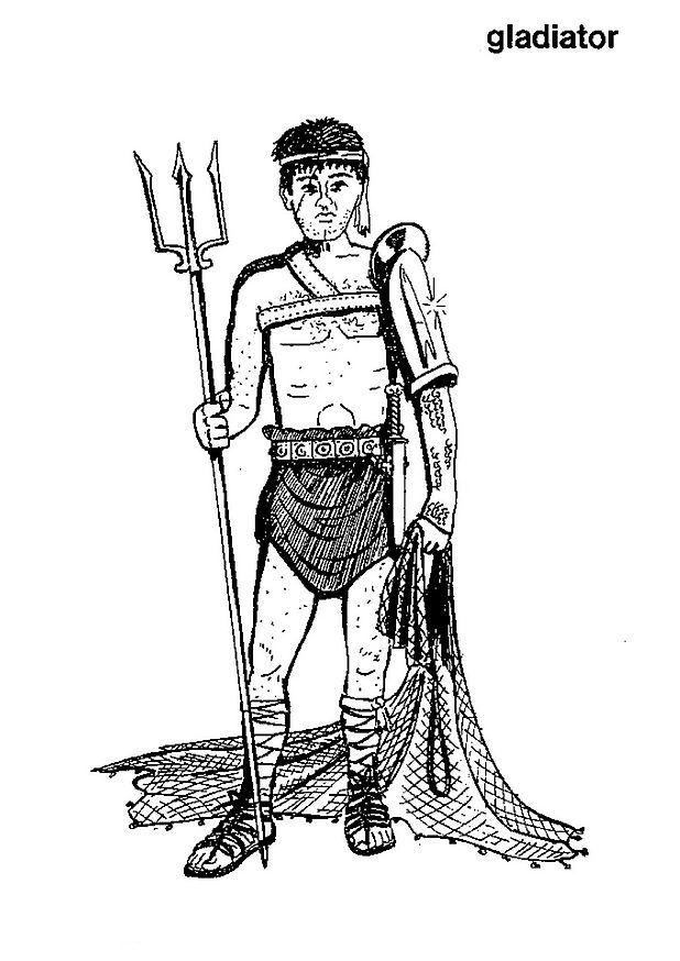 Gladiator coloring #4, Download drawings