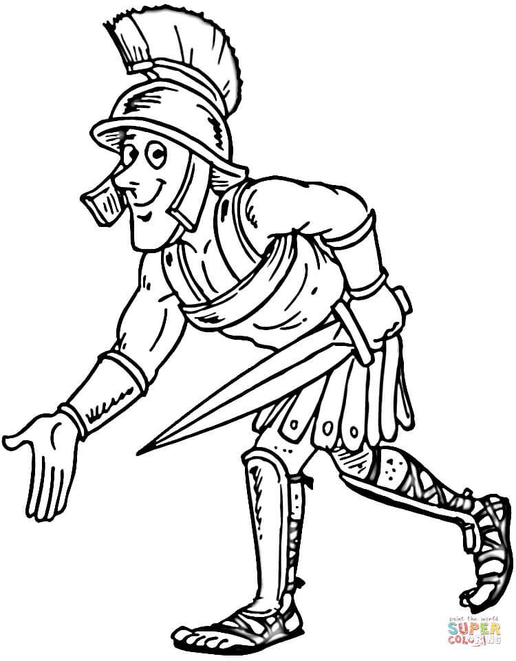 Gladiator coloring #18, Download drawings