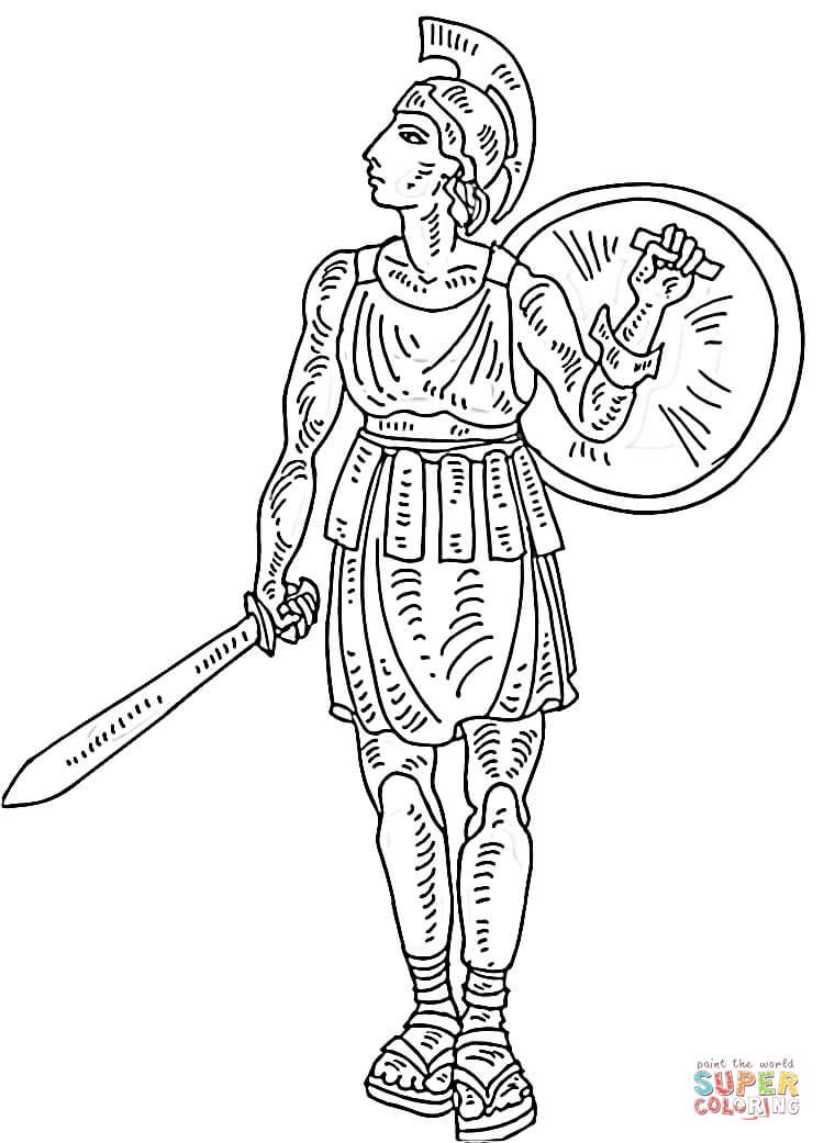 Gladiator coloring #17, Download drawings