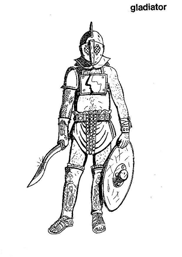 Gladiator coloring #16, Download drawings