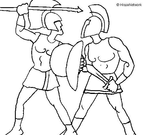 Gladiator coloring #5, Download drawings