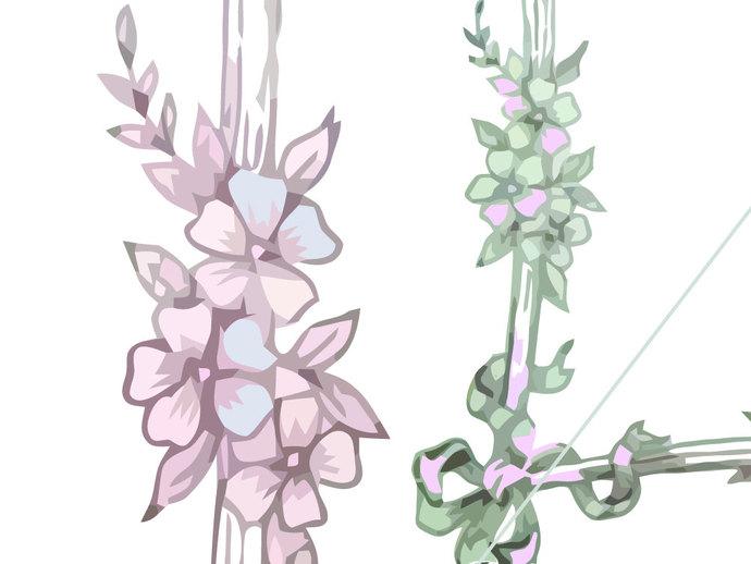 Gladiolus svg #10, Download drawings