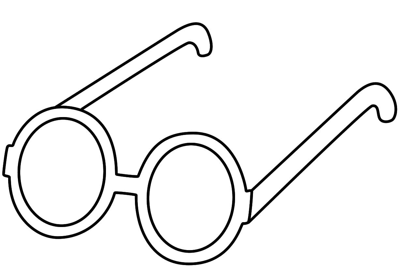 Glasses coloring #2, Download drawings