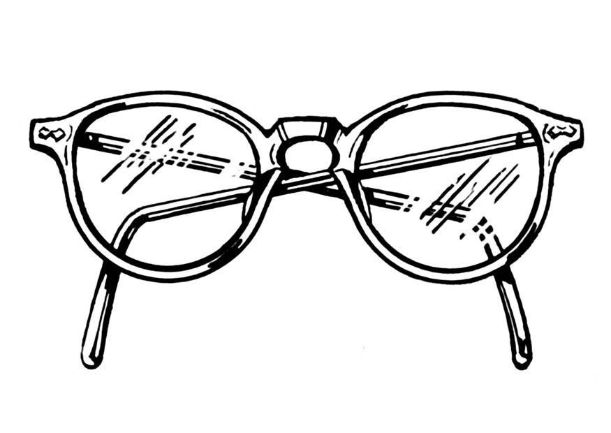 Glasses coloring #17, Download drawings