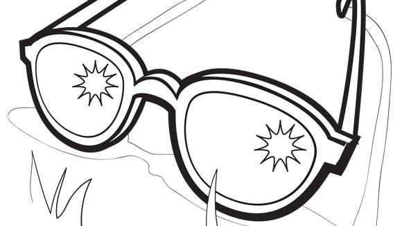 Glasses coloring #20, Download drawings