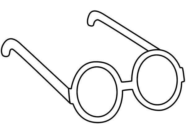 Glasses coloring #11, Download drawings