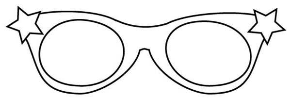 Glasses coloring #9, Download drawings