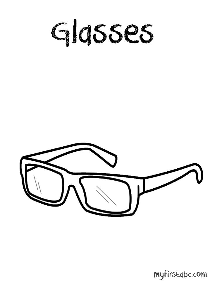 Glasses coloring #3, Download drawings