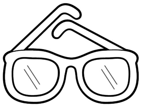 Glasses coloring #1, Download drawings