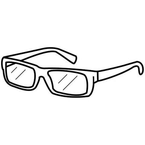Glasses coloring #5, Download drawings