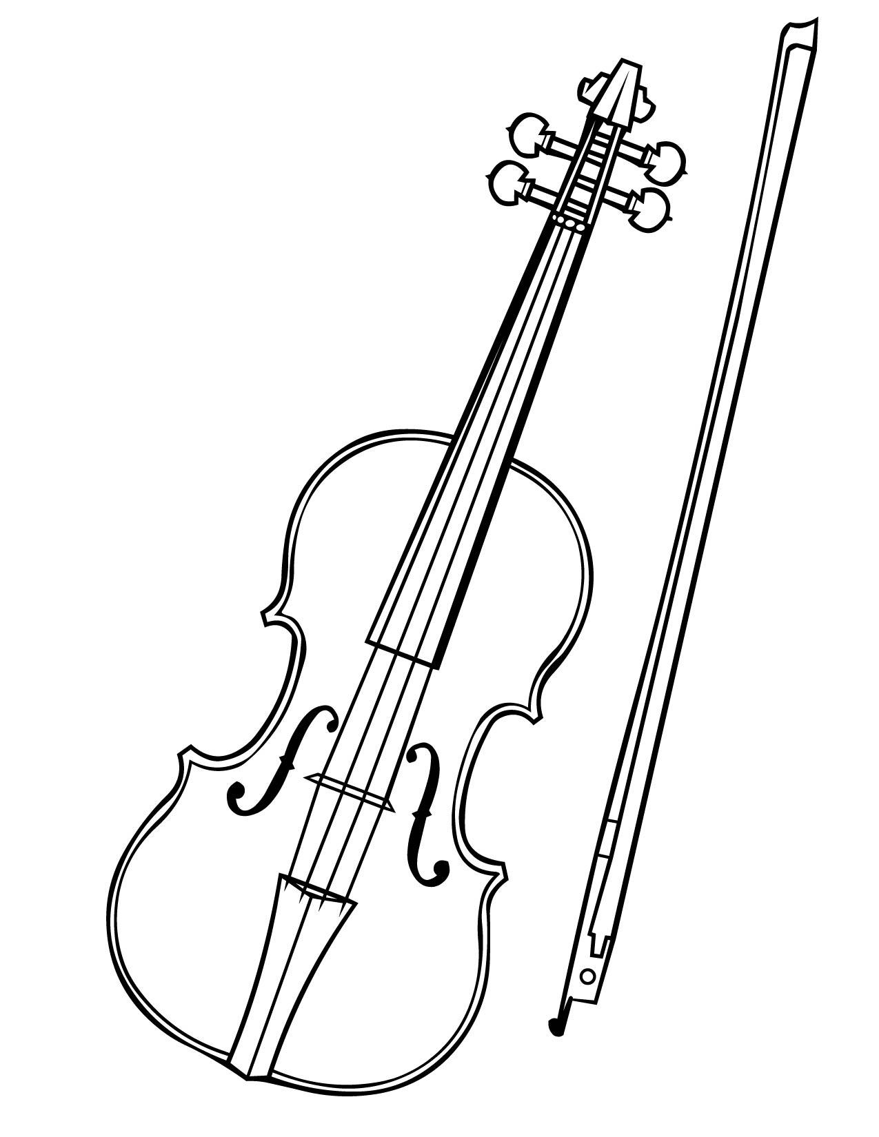 Violin coloring #14, Download drawings