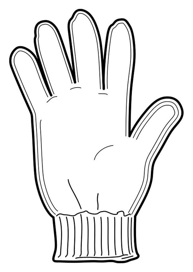 Glove coloring #10, Download drawings