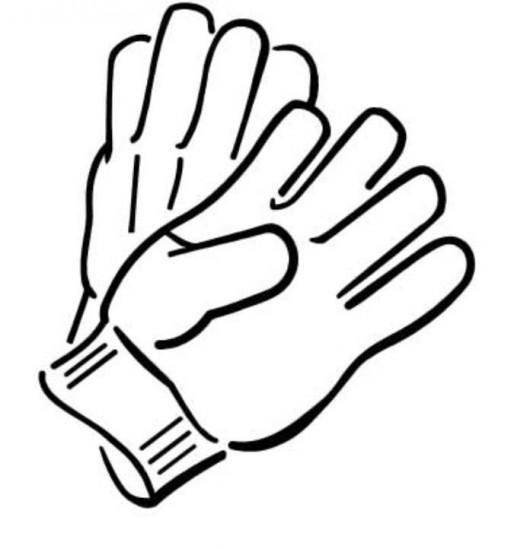 Glove coloring #13, Download drawings