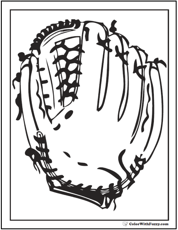 Glove coloring #4, Download drawings