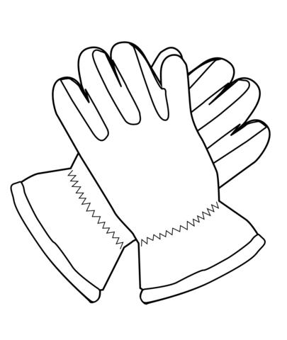 Glove coloring #17, Download drawings