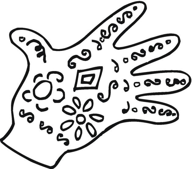 Glove coloring #6, Download drawings