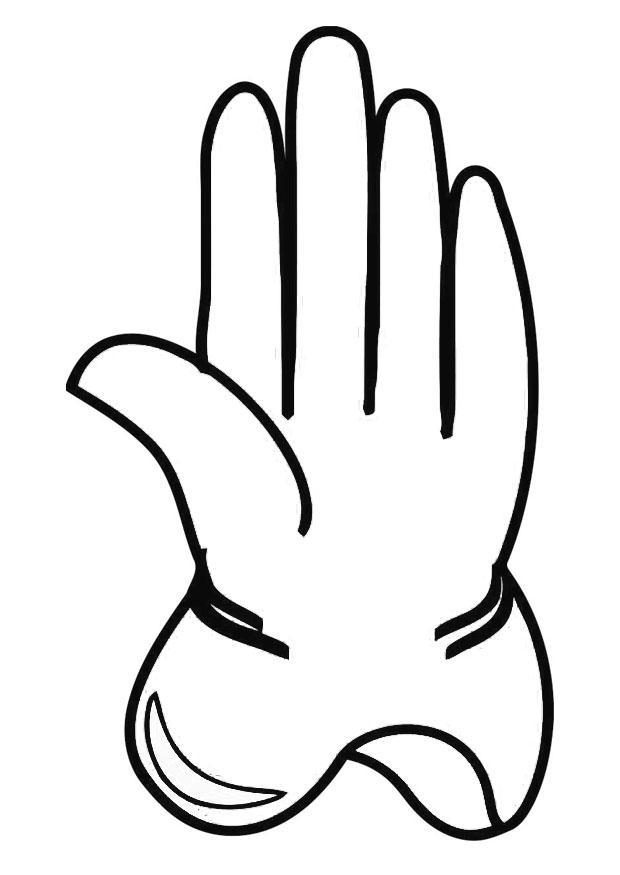 Glove coloring #9, Download drawings