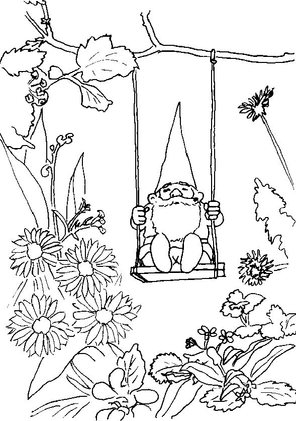 Gnome coloring #11, Download drawings