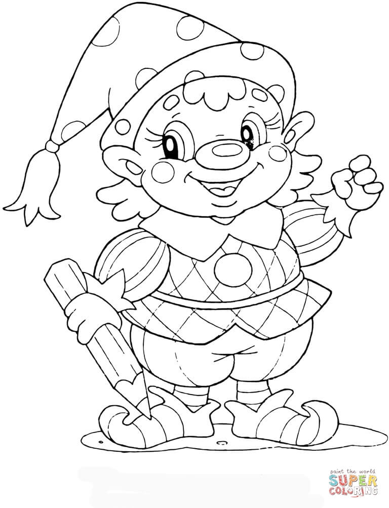 Gnome coloring #9, Download drawings