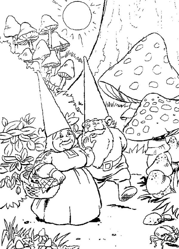 Gnome coloring #13, Download drawings
