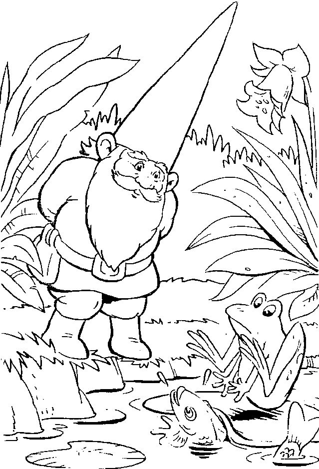 Gnome coloring #10, Download drawings