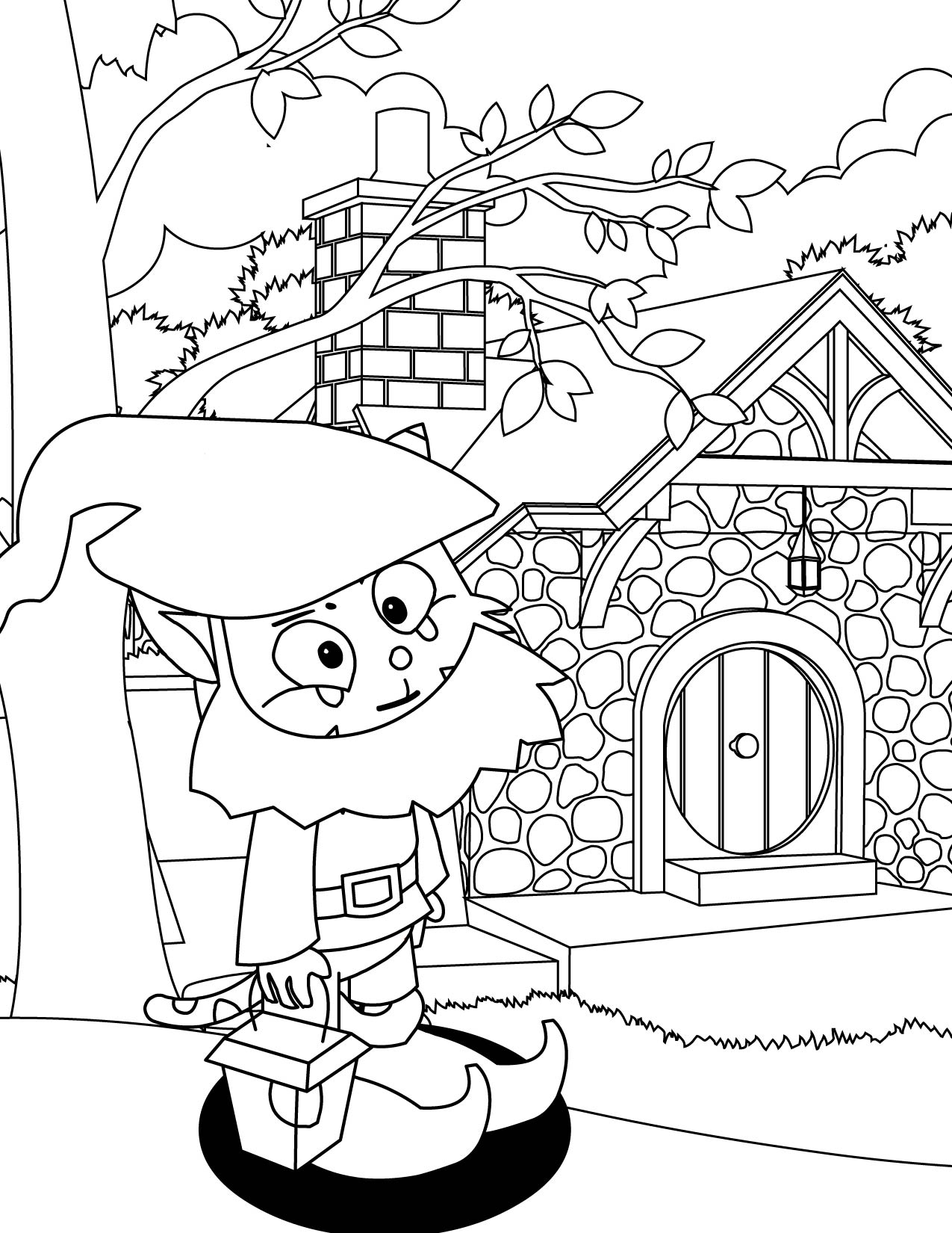 Gnome coloring #8, Download drawings