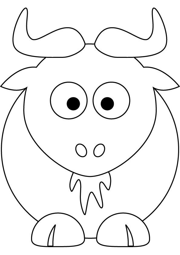 Gnu coloring #8, Download drawings