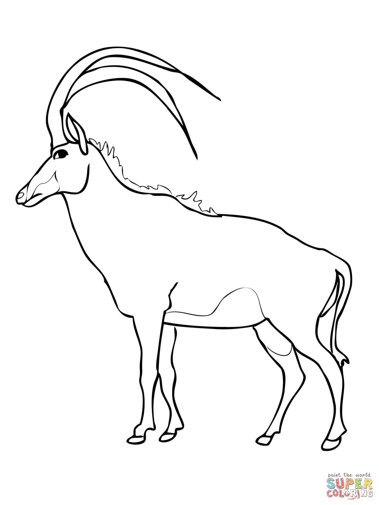 Gnu coloring #4, Download drawings